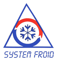 system froid logo bleu rouge